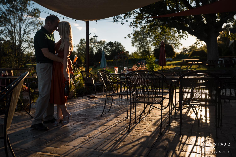 Sunset Winery Engagement Photos