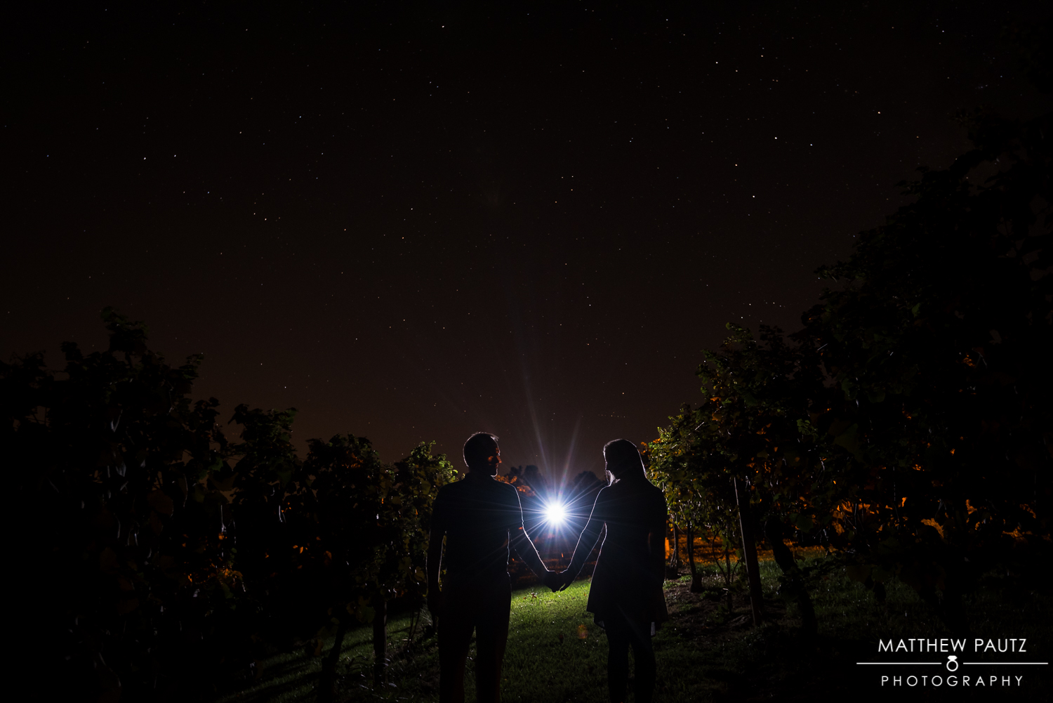 Starry Engagement Photo