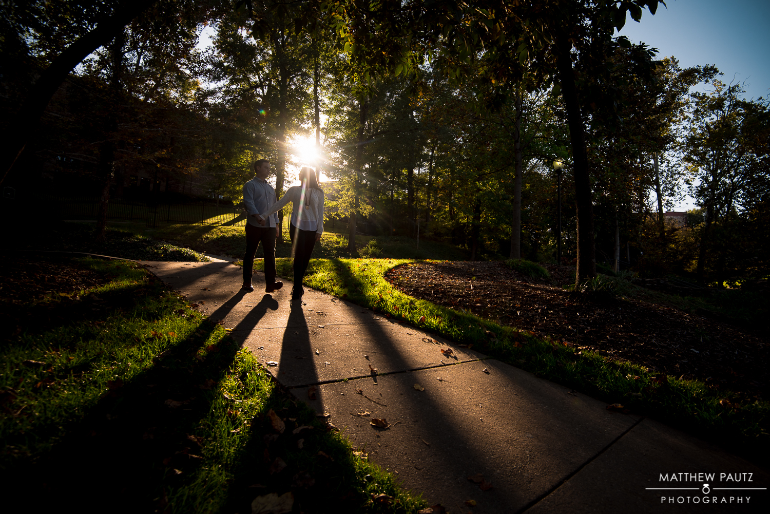 Engagement photos in Falls Park, Greenville | Liberty Bridge