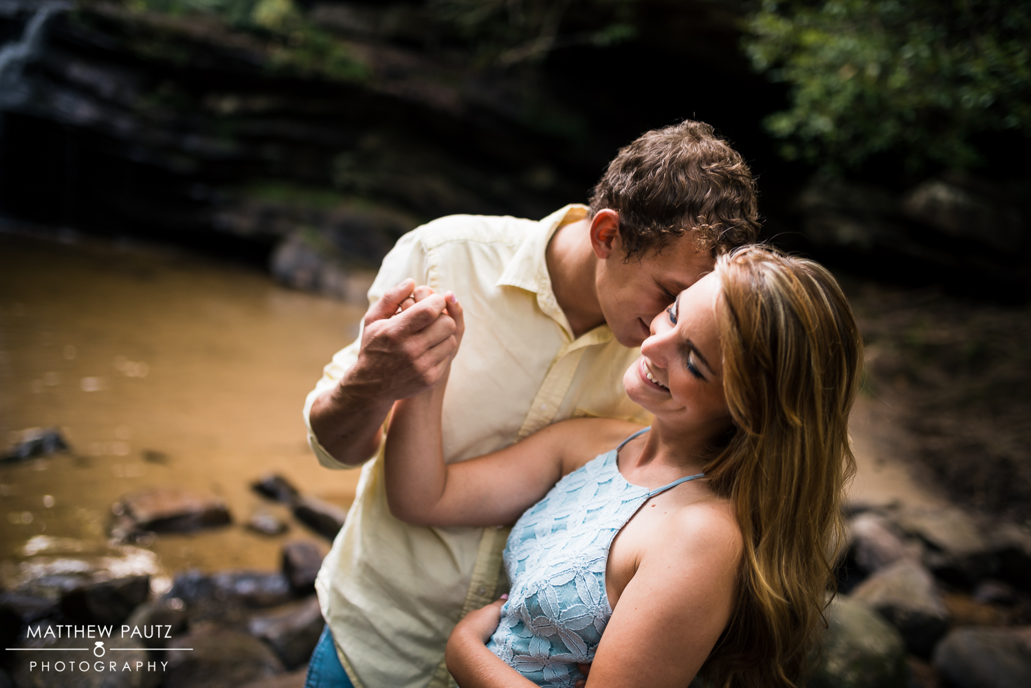 Table rock state park engagement photos