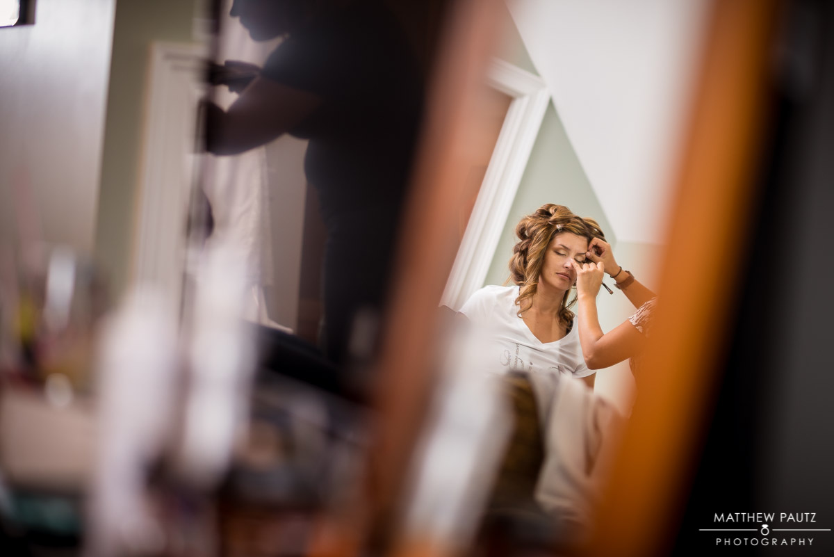 Bridesmaids Getting Ready Wedding Photos