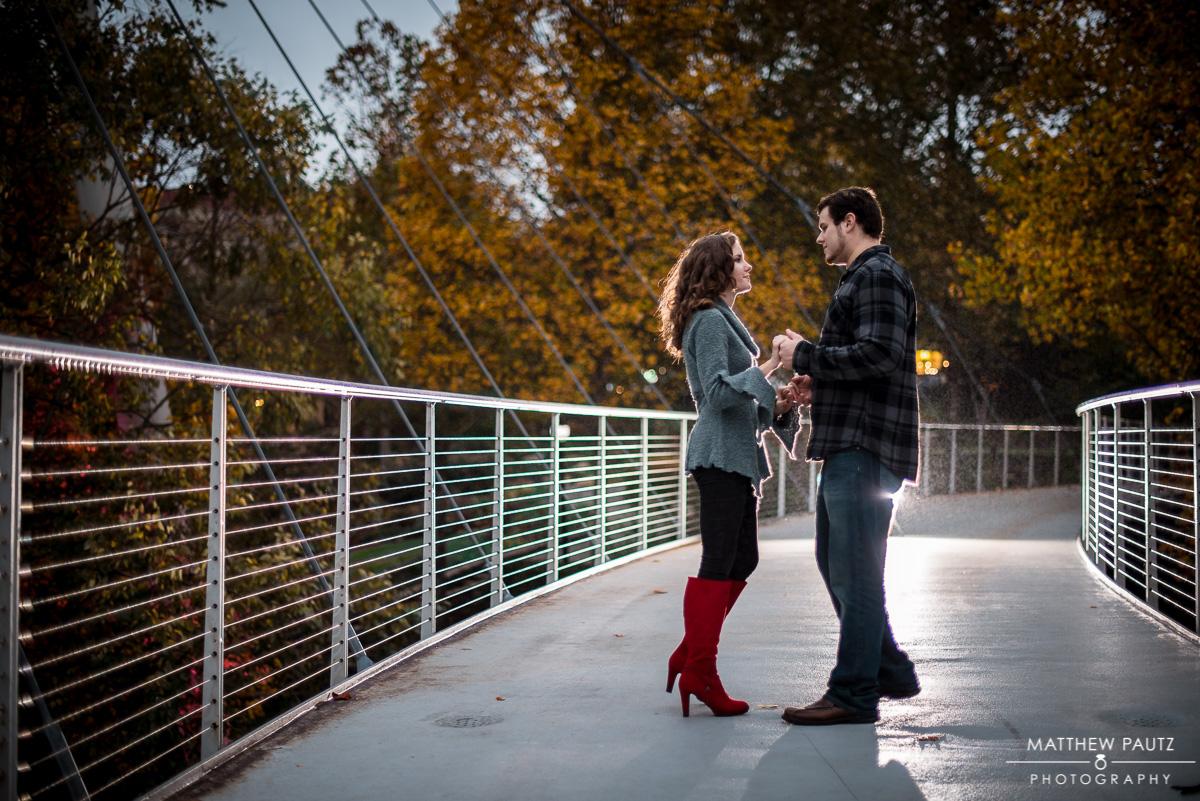 Falls Park Engagement Photos - Greenville