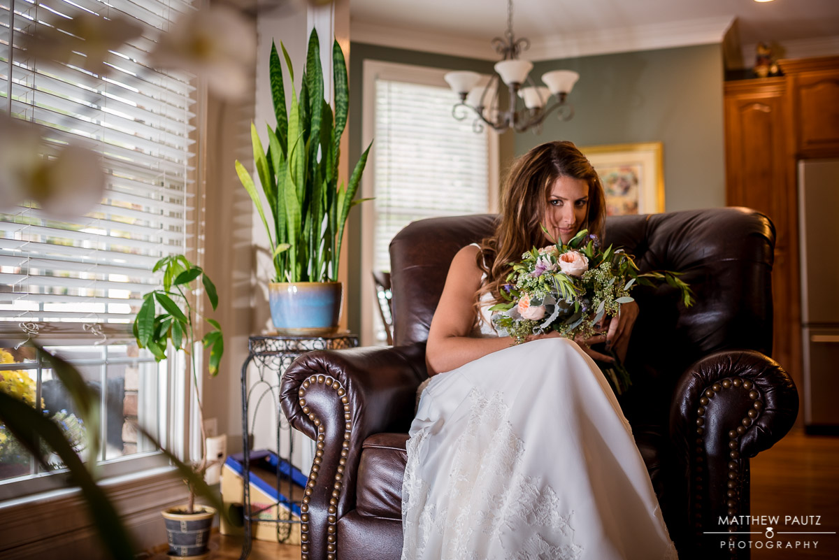 Bridal portrait at Bride's House