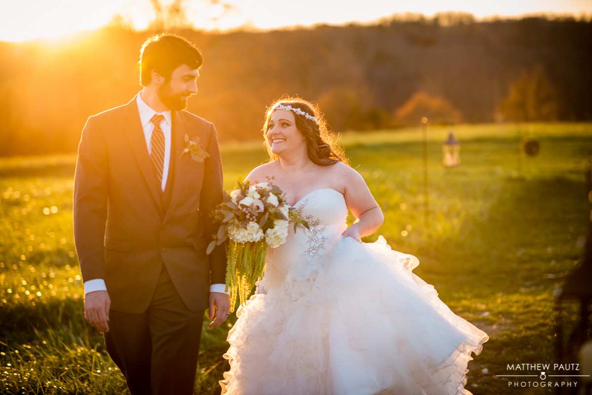 Sunset Wedding Photos | The Lindsey Plantation Greenville