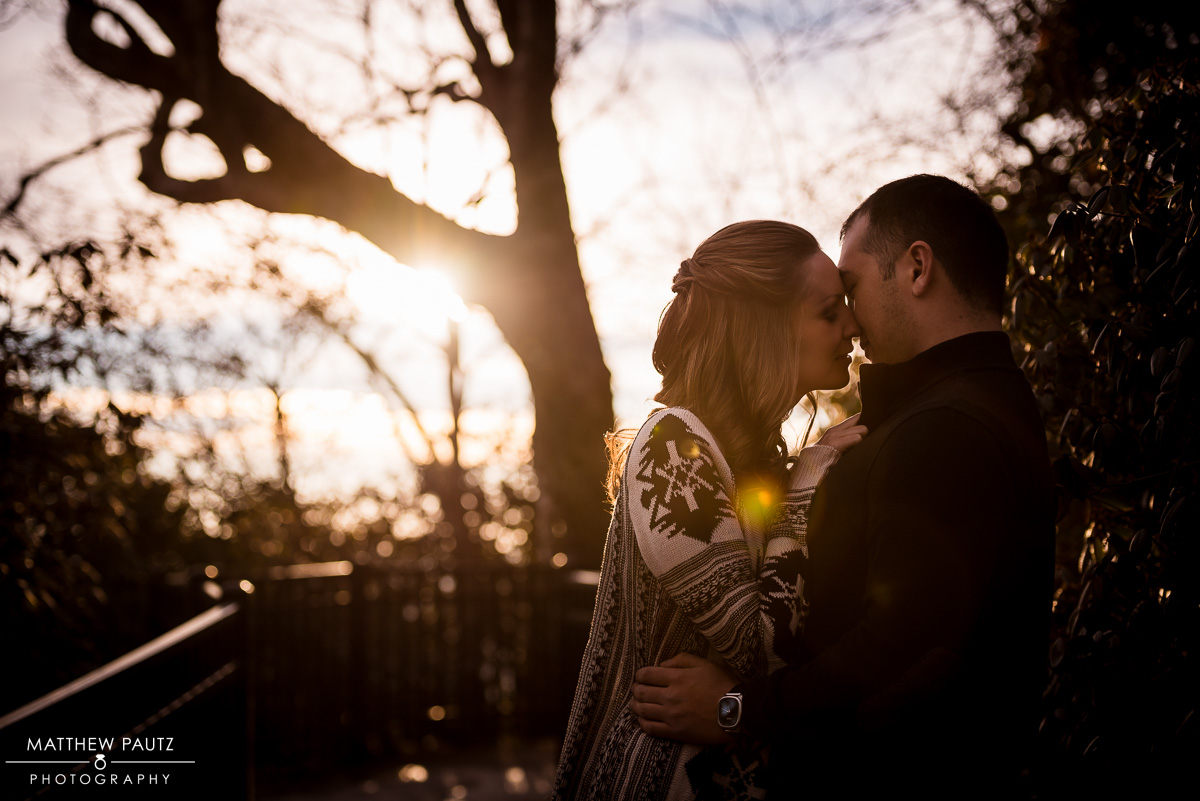 Caesar's Head Sunset Engagement Photos