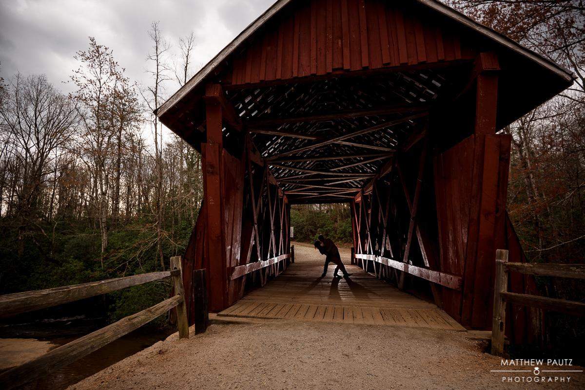 Cambell's Covered Bridge Surprise Proposal Photos | Landrum SC