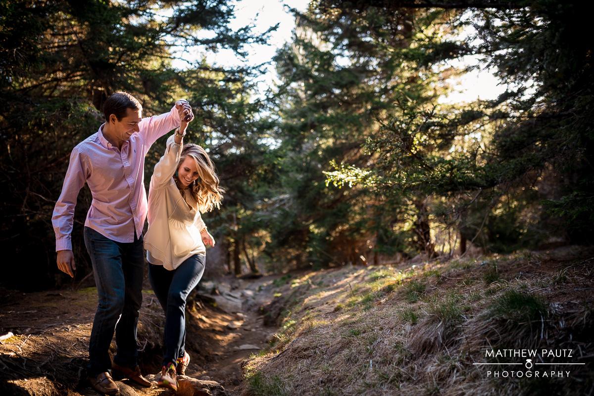 Blue Ridge Parkway Mountain Engagement Photos