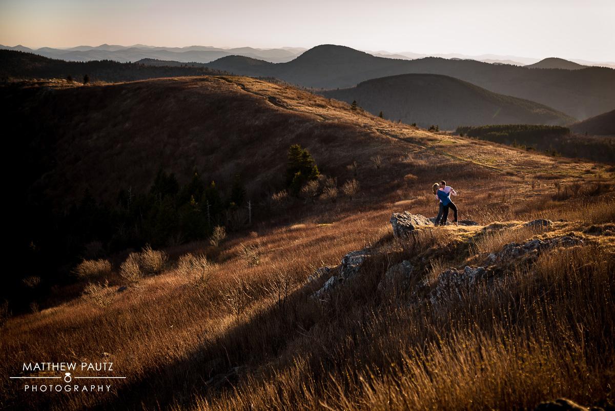 Sunset mountain engagement photos