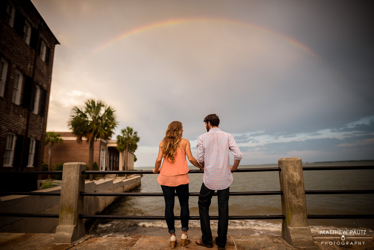 Downtown Charleston Engagement Photos | Rainbow Engagement Photo